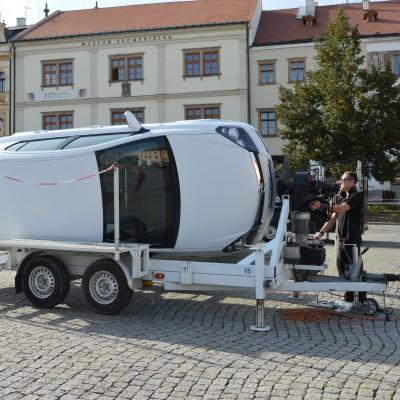 Simulátor přetočení vozidla na střechu
