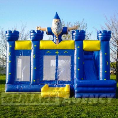 Skákací hrad Kouzelník se skluzavkou