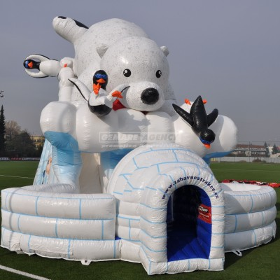 Nafukovací skluzavka Lední medvěd