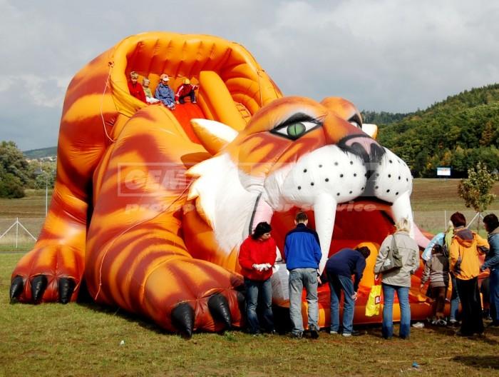 Nafukovací skluzavka Tygr